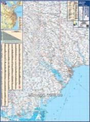 The map of the highways Odessa oblast140kh100sm