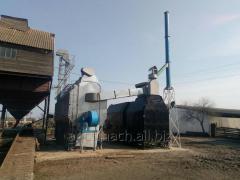 Zernosushilka in a set on solid fuel of 150 t/days
