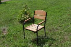 C-Premium-BL Chair Premium (black metal, light wood)
