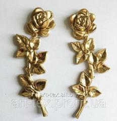 Роза 6.06         290*100мм золото