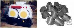 Tryck utrustning för produktion av briketter från