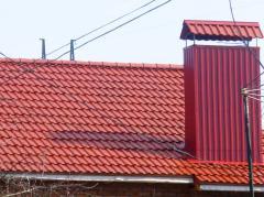 Черепица полимерпесчаная красная, коричневая