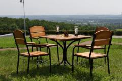 KIT-Mix-BL Комплект мебели Микс (черный металл, светлое дерево)
