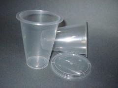 Capacity polypropylene with a cover of 330 ml