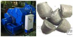 Press equipment for the production of briquettes