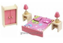 Мини–мебель 6, деревянная игрушечная мебель