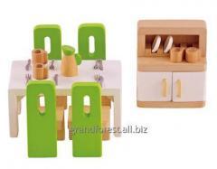 Мини-мебель 13, деревянная игрушечная мебель для кухни