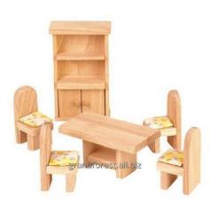 Мини–мебель 16, набор игрушечной мебели из дерева Столовая