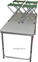 Стол-чемодан + 4 стула