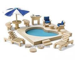 Los mini-muebles 22, los muebles de juguetes