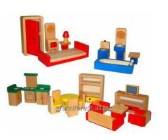 Набор мини–мебель 23, набор деревянной игрушечной мебели