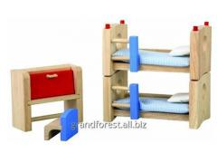 Mini-furniture 24, beds for dolls wooden