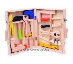 Набор строителя 5,  детский набор инструментов из дерева