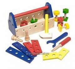 El juego del constructor 7, el juguete de madera