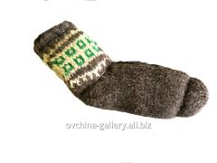 Socks from wool hand-knitted