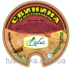 Stewed meat from Ladus-Yodis pork of 525 g