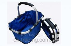 Folding Fold Basket blue bag baske