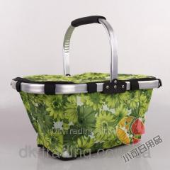 Folding Fold Basket green bag baske