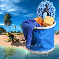 Folding bucket 11L blue