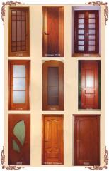 (Kiev), door interroom the massif of an oak, a