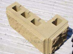 The angular block 390*190*90 on columns for a