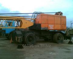 The crane on Jonson-SW 851M pneumocourse