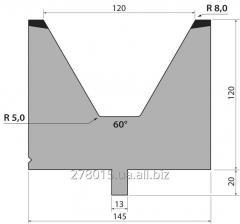 Matrixes 60 ° H = 120 mm