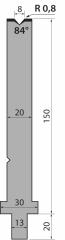 Matrixes 84 ° H = 150 mm