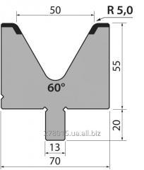 Матрицы 60 ° H = 55 mm / H = 65 mm