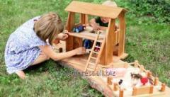 Игровой Домик-Ферма, домик деревянный для детей