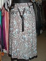 Длинная оригинальная женская юбка. Весна-лето.