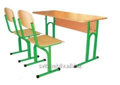 158+2*292 A set student's adjustable 2-seater