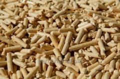 Pellet from straw.