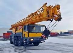 Аренда автокрана LIEBHERR, г/п 60 тонн,телескоп 40