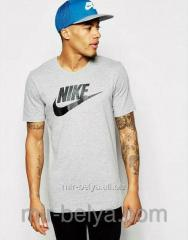 Men's knitted Nike t-shirts gray