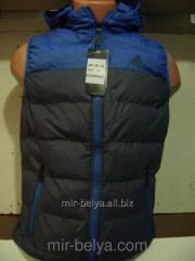 Men's Adidas vest bilateral blue-gray