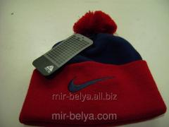 Men's Nike Cap with a bubo warm woolen blue -
