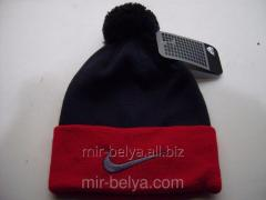 Men's Nike Cap with a bubo warm woolen dark