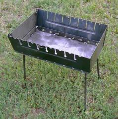 Мангал-чемодан туристический на 8 шампуров, металл 2мм