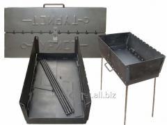 Мангал-чемодан туристический на 12 шампуров, металл 2 мм