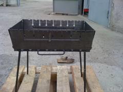 Мангал-чемодан туристический на 8 шампуров, металл 3мм