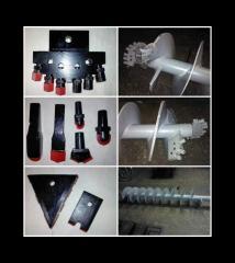 Буровой инструмент армированый твердым сплавом для