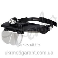 Cap with illumination and replaceable lenses of