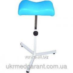 Pedicure support under a leg