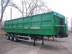 Semi-trailer NPS 2150 dump truck, grain-carrier