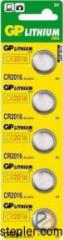 Batteries CR2016 batteries of 5 pieces x BL, GP