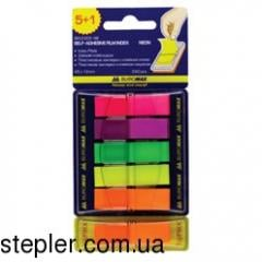 Indesk plastic, 6 x 40 l, 45 x 12 mm, neon colors,