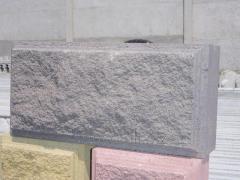 Construction block fragmentary gray 390х190х190