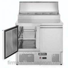 The table is refrigerating, 2-door, with a