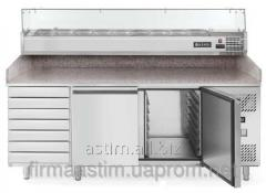 Table refrigerating for pizza with 7 boxes, a